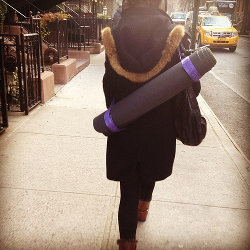 Yes if you carry around a yoga mat... We instantly think
