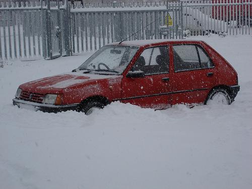 Jimmy's Ferrari Stuck In The Snow