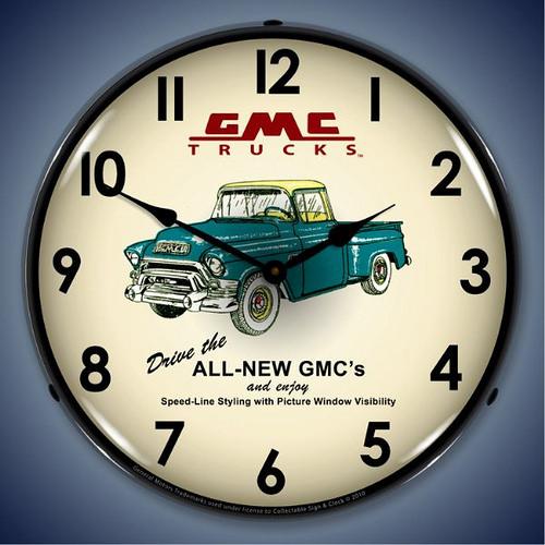 GMC-Trucks-1956-GM1001234-Lighted-Wall-Clock
